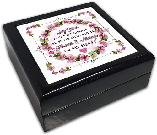 My (Relation) May Not Always Be by My Side Black Square Jewellery Box